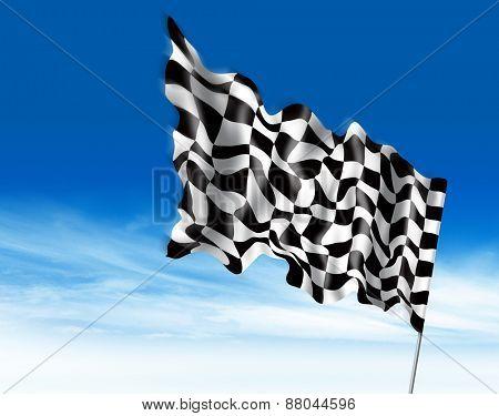 winning flag illustration