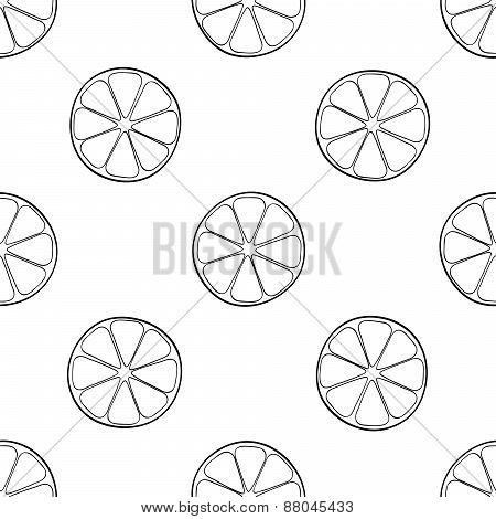 Delightful Garden - Seamless Pattern Of A Lot Of Lemon Slices