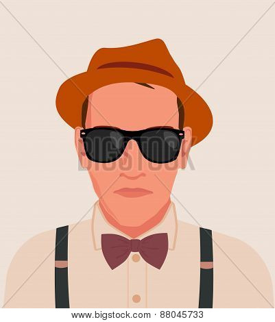 hipster men vector illustration