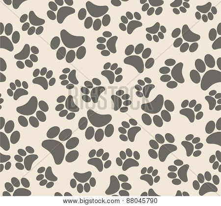 Background animal footprints vector illustration seamless background animal footprints vector