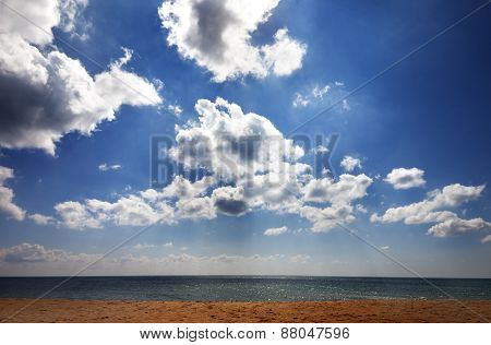 Sea Beach In Sun Day