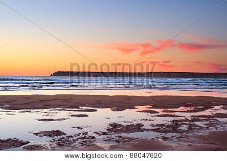 Varicolored Ocean Sunset, Portugal