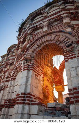 Ruined Historical St. John Aliturghetos Church In Nessebar