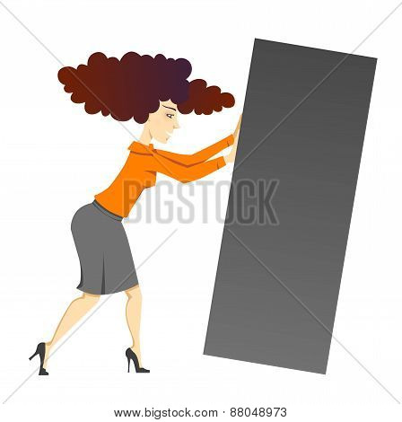 Woman With Block