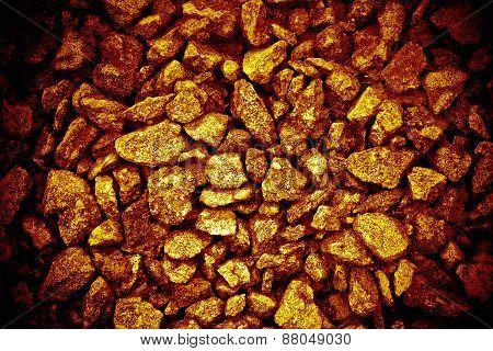 golden backgroundn gravel