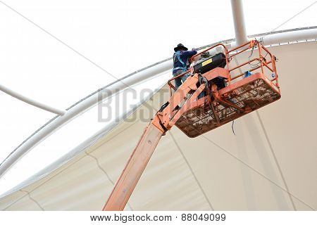Tensile Fabric Structure Installation