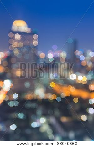 City at night blur photo,Bokeh background, Bangkok Thailand