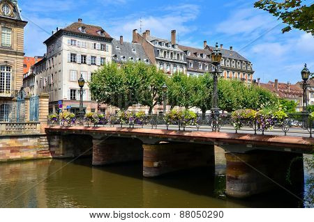 Bridge over the canals of Strasbourg, France
