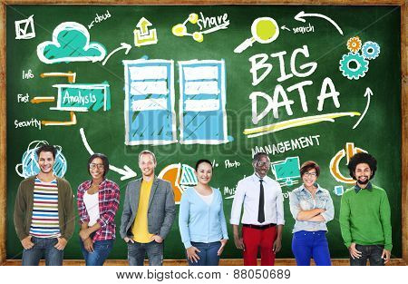 Deversity People Big Data Design Planning Information Concept