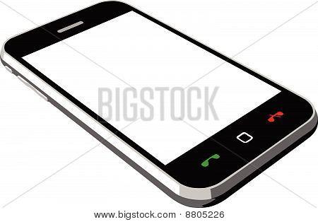 Smartphone empty screen