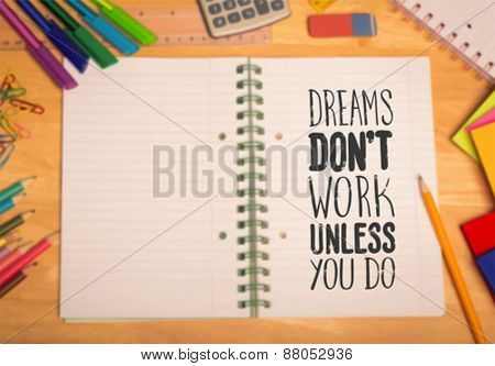 Digitally generated Motivational vector with dream text