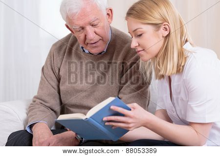 Senior Man And Caregiver