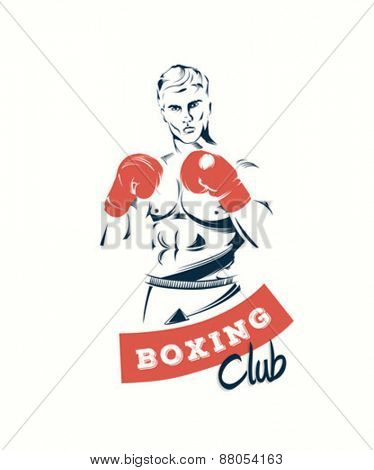 Digitally generated Boxing club vector poster