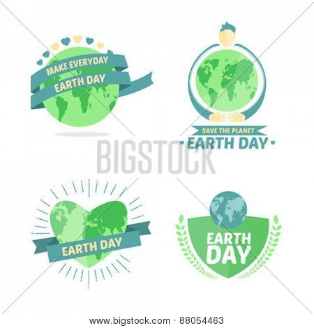 Digitally generated Earth day vectors