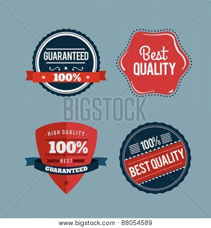Digitally generated Retro styled retail badges vector