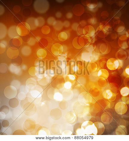Festive abstract background with bokeh lights