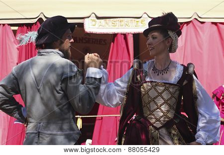 A Couple Dance At The Arizona Renaissance Festival