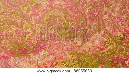 Ebru Red Pink