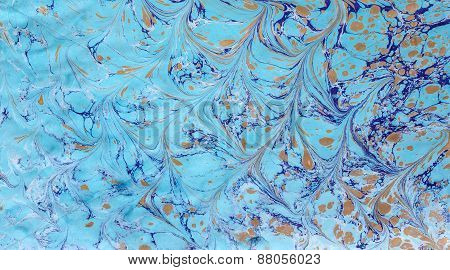 Ebru Blue Gold 2