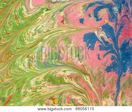 Ebru Pink Green Blue 1