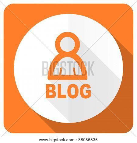 blog orange flat icon