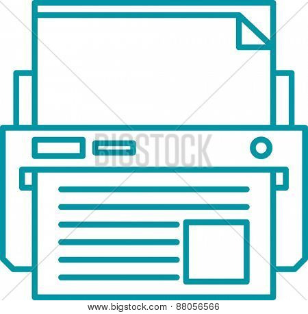 Printer linear illustration