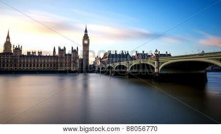 Big Ben At Westminster In London