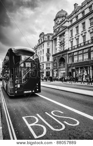 The Iconic Red Routemaster Bus In London