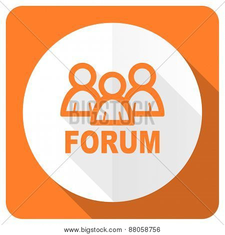 forum orange flat icon