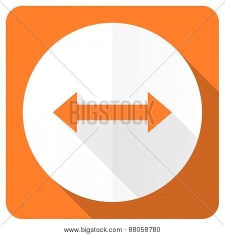 arrow orange flat icon