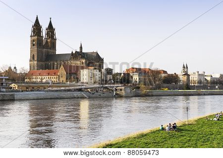 View Of The City Of Magdeburg