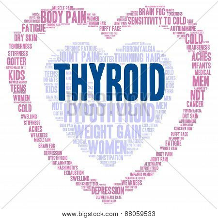 Heart Shaped Thyroid Word Cloud