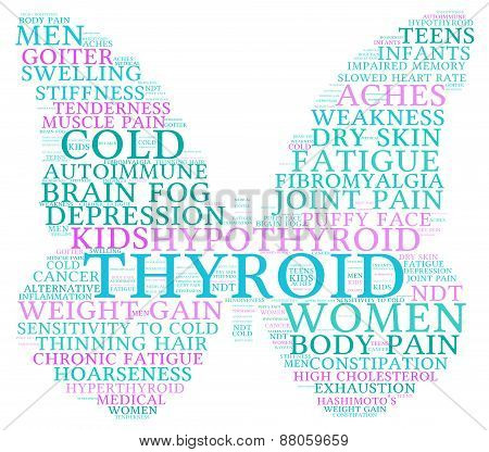 Butterfly Shaped Thyroid Word Cloud