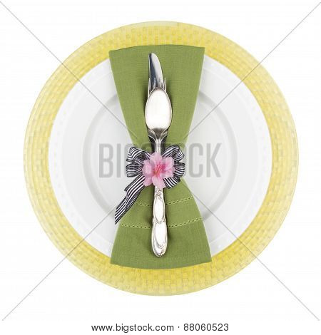 Spring Colored Place Setting