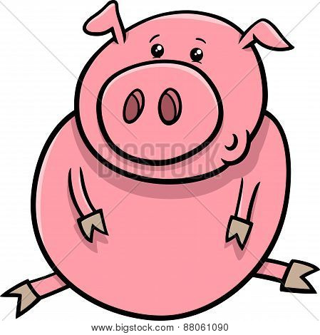 Little Pig Or Piglet Cartoon