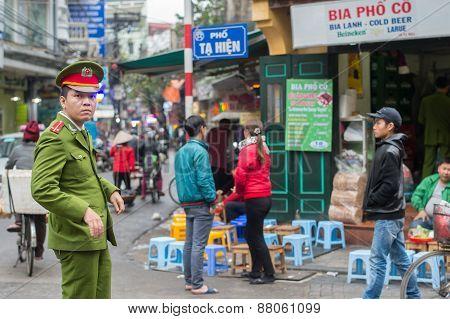 Vietnamese police in Hanoi