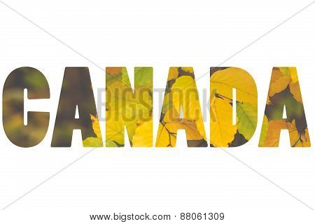 Word Canada Over Autumn Time.