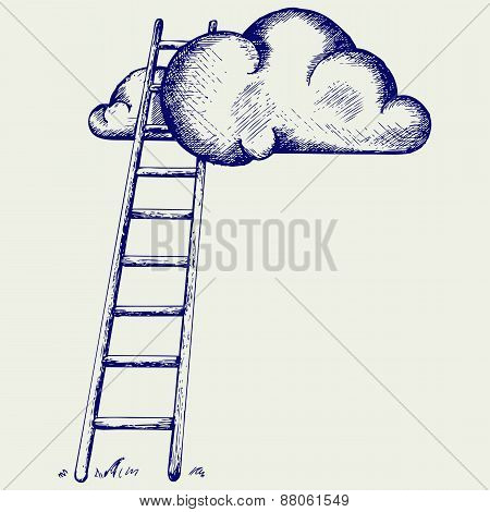 Ladder to clouds