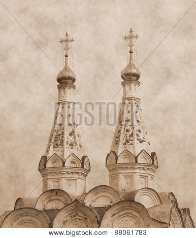 Church of the Holy Spirit. sepia toning