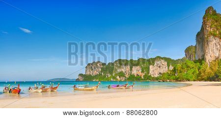 Panorama of the west Railay beach