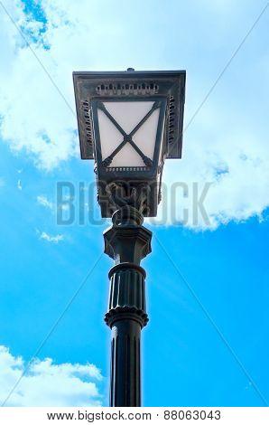 Street Lantern Opposite Blue Sky