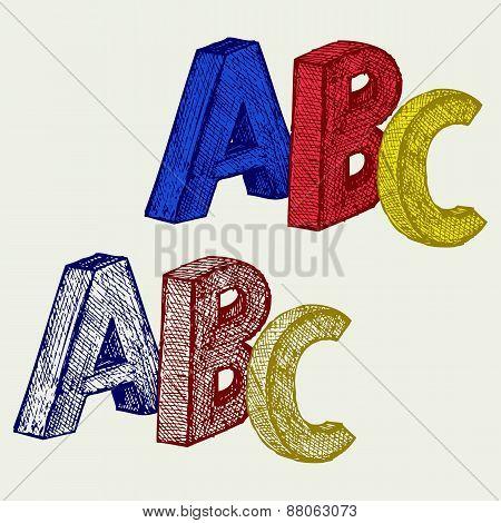 Alphabet with A,B,C