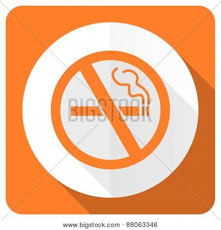 no smoking orange flat icon
