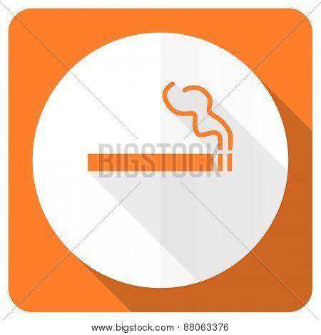 cigarette orange flat icon nicotine sign