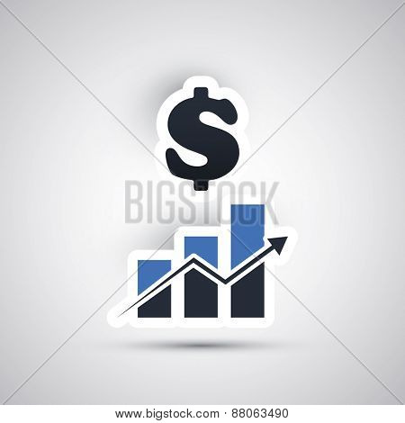 Success - Vector Illustration of Dollar Design