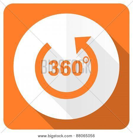 panorama orange flat icon