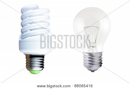 Incandescent Lamp And Fluorescent Lamp