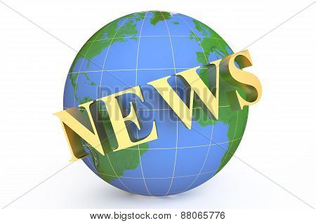Golden News Around Earth