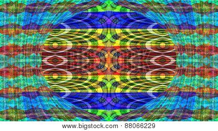 Transparent soft multicolored fabric