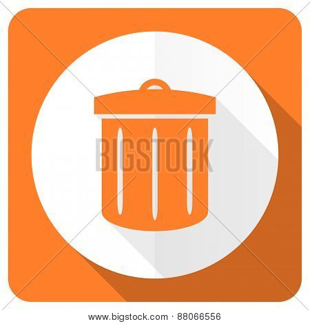 recycle orange flat icon recycle bin sign